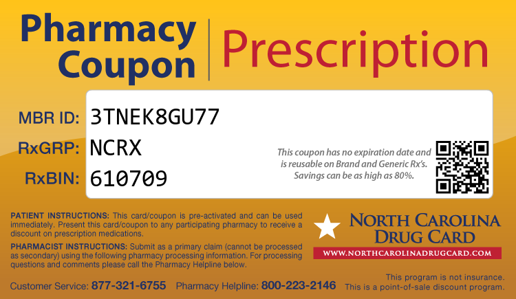 North Carolina Drug Card - Free Prescription Drug Coupon Card